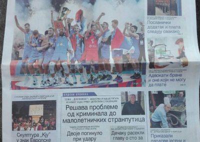 Naslovna strana Dnevnika 30.9.2019. god.