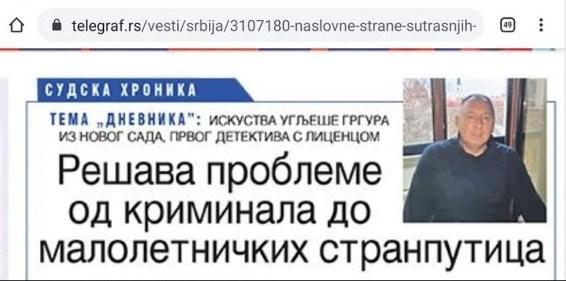 Naslovna strana Dnevnika 30.9.2019. god